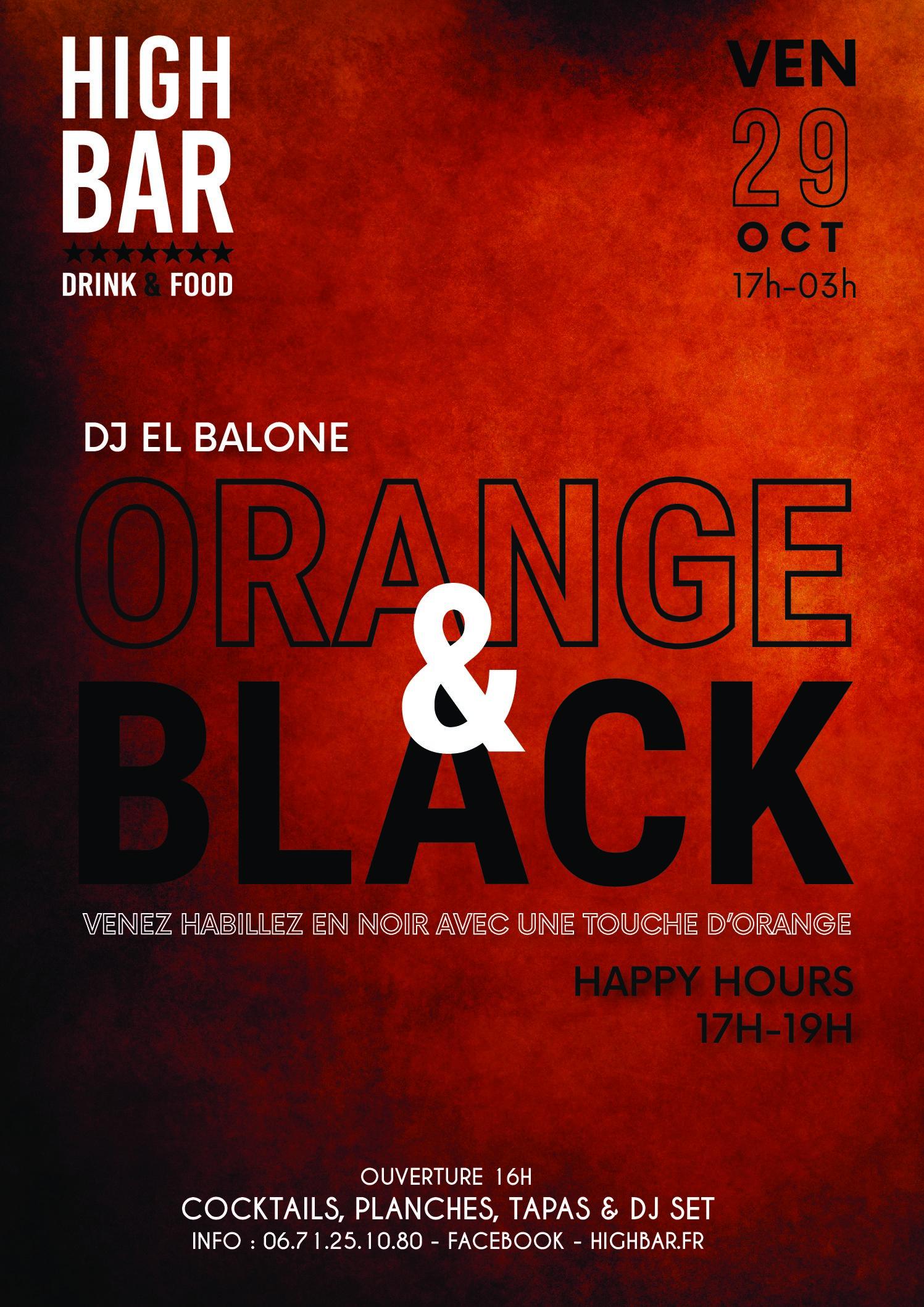 ORANGE & BLACK Party